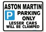 ASTON MARTIN Large Sign for DB 6  V8  DB6 VANTAGE 2 4